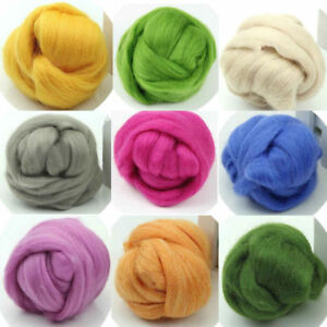 HOT NEEDLEFELTING WOOL CORRIEDALE TOP ROVING DYED SPINNING WET FELTING FIBER DIY