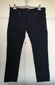 Pantaloni-uomo-PRADA-neri-cotone-jeans-tg-54