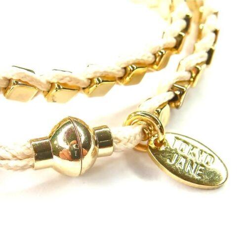 Tokyo Jane pulsera crema//Golden