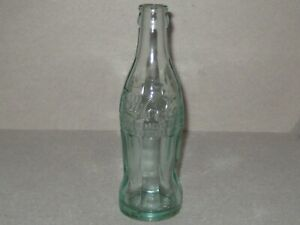 aa5094f81b79 Details about Coca Cola Bottle Embossed Green Glass 6 Ounce Asheville North  Carolina