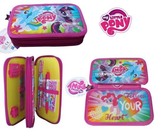 My Little Pony astuccio 2 zip accessoriato BIMBA SCUOLA elementare 2014-2015