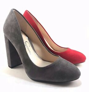 8ef7bc3cc1d Image is loading Jessica-Simpson-Belemo-Suede-Leather-Round-Toe-Thick-