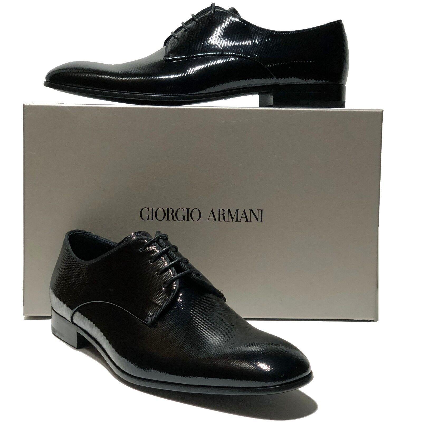il più alla moda NEW NEW NEW Giorgio Armani Pebbled Patent Leather Formal Dress Oxford 13 46 Uomo Tuxedo  prodotti creativi