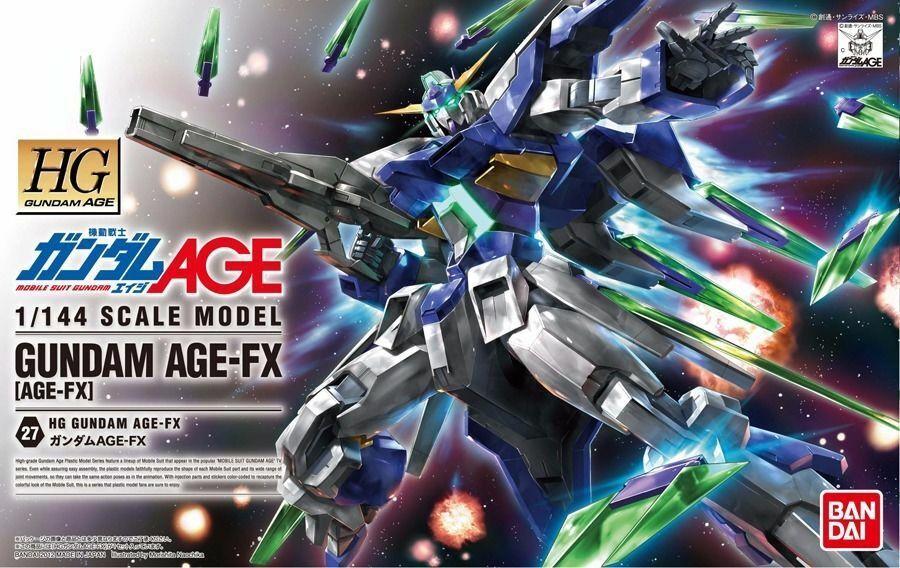 BANDAI 1  144 HG 27 AGE -FX GUNDAM AGE -FX Plastic modellllerler Kit NEW från japan