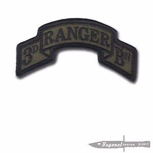 OD-New-Hook-amp-Loop-Modern-3rd-Ranger-Battalion-Scroll-3-7-8-034-x-2-034-Merrowed