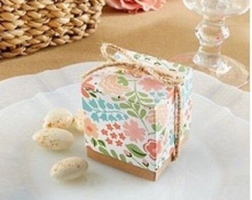 Sample of 1 x vintage Floral wedding favour boxes new