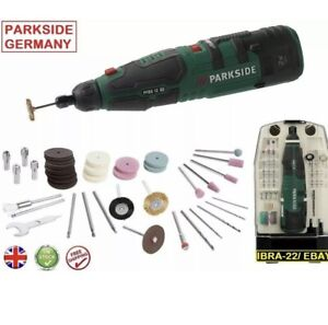 Parkside 12V Cordless Rotary Dremel Tool with Accessories