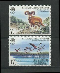Flamingo Salt Lake Mouflon Cedars two mnh stamps 1986 Cyprus #669-70 Europa