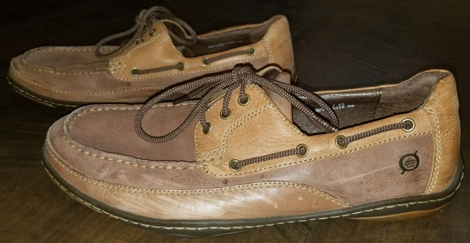 Men's Born Brown Casual Dress shoes Loafers Size 9.5