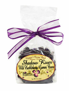 Shadow River Gourmet Wild Huckleberry Gummy Bears Purple Candy