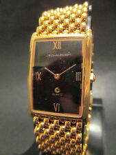 A101 NEW JB CHAMPION Gold Dress Stainless Steel Band WATCH Square VINTAGE Dress
