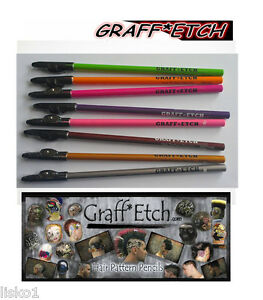 GRAFF*ETCH PENCIL ME IN BARBER ETCHING COLORED PENCILS *NEW* 8-NEON ...
