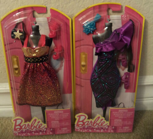 BARBIE NIGHT ON THE TOWN FASHION CLOTHES  LOT OF 2 W// ACCESSORIES  *Nu*