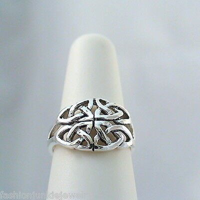 Celtic Knot Ring - 925 Sterling Silver - Celtic Trinity Knot Ring Gaelic *NEW*