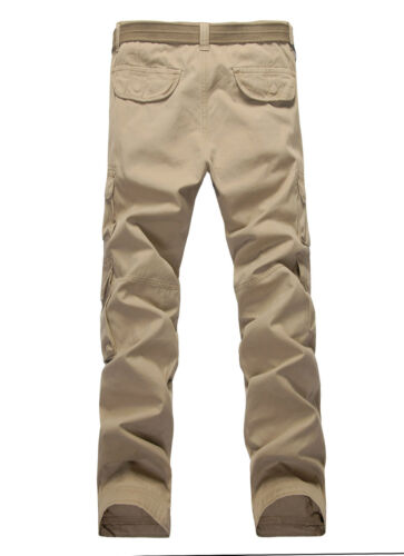 MENS BARON CASUAL MILITARY ARMY CARGO WORK PANTS TROUSERS-SIZE 32-42
