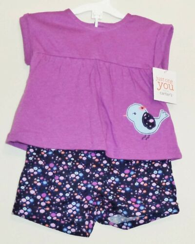 Carters Just One You Bird Infant Girls Top and Pants Outfit SIZE 3 or 6 Months