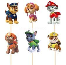 12 X Paw Patrol Pastel Picks/Cupcake Toppers Niños Cumpleaños Fiesta Ryder figura Sky