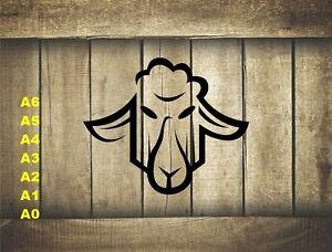 Stylized-Sheep-Head-Stencil-350-micron-Mylar-not-thin-stuff-Farm013
