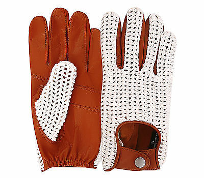 Classic English Leather Driving Gloves Chauffeur Vintage fashion And Touchscreen Gloves