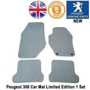 Peugeot-308-CC-308cc-Car-Mats-Carpet-Floor-Front-Rear-Light-Grey-Genuine-4pc-set