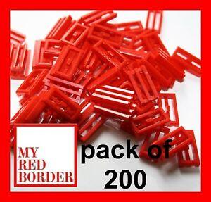 Lego ® 1x2 azulejos rojo/50 pieza Juegos de construcción