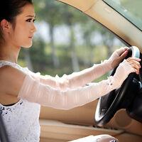 Uv Protection Sun Block Wedding Driving Fingerless Gloves Sleeve Many Color 3