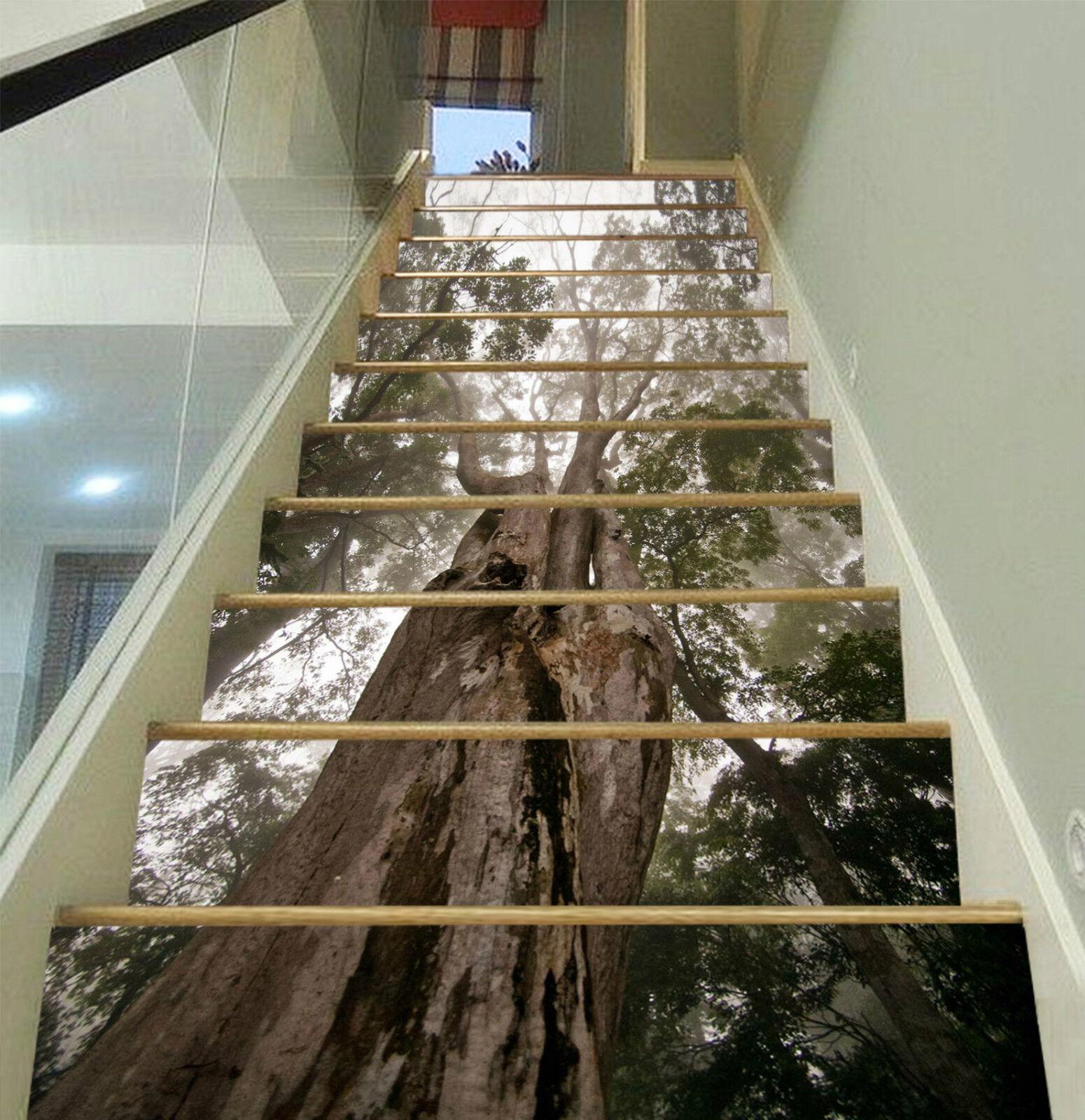 3D Wald Wurzel 259 Stair Risers Dekoration Fototapete Vinyl Aufkleber Tapete DE