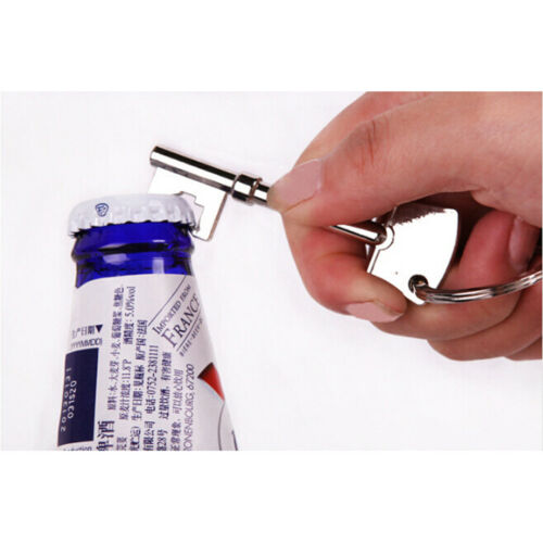 Key Portable Bottle Opener Beer Bottle Can Opener Hangings Ring Keychain Tool TK