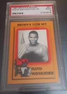 1997-BROWN-039-S-BOXING-11TH-SET-51-FLOYD-MAYWEATHER-JR-ROOKIE-CARD-RC-PSA-9-MINT