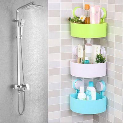 Shower Corner Shelf Bathroom Adhesive Caddy Wall Mounted