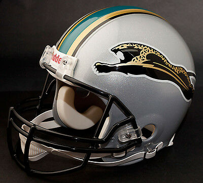jaguars helmet jacksonville nfl prototype football 1995 replica riddell helmets fan history logos team throwback sports ii mem souvenirs apparel