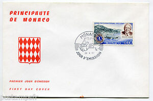 MONACO-FDC-premier-jour-LIONS-INTERNATIONAL-MELVIN-JONES-TP-725-28-4-1967