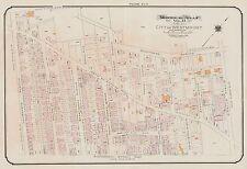 1913 CHARLES E. GOAD, MONTREAL, CANADA, WESTMOUNT ACADEMY & YMCA, COPY ATLAS MAP