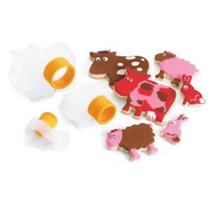 Details about Cuisipro Cookie Cutters Farm Animal Shape Design 3pc Set Snap  Fit Storage New