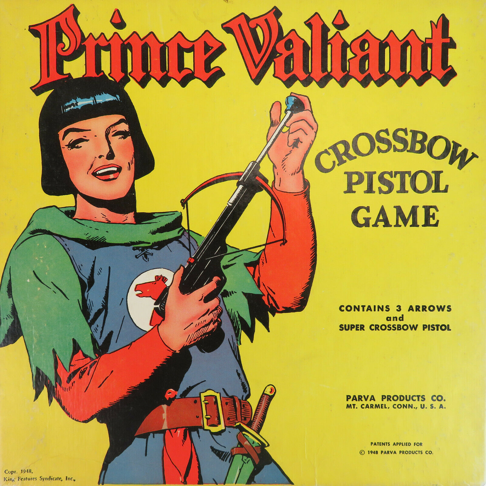 1949 Prince Valiant Crossbow Pistol Game - Vintage 40's Working Condition RARE
