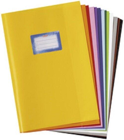 herlitz protège-cahier format A4, gaufré (raphia), PP, blanc