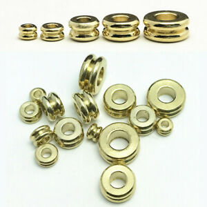 Solid-Brass-Flat-Round-Gold-Loose-Metal-Spacer-Beads-lot-3mm-4mm-5mm-6mm-7mm