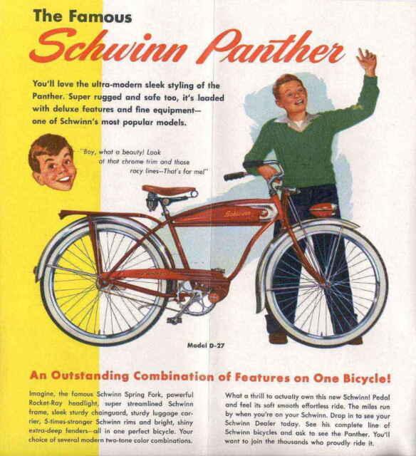 Stencils Repaint Restore Vintage Schwinn Bicycle Bike Panther Straight Bar Decal For Sale Online Ebay
