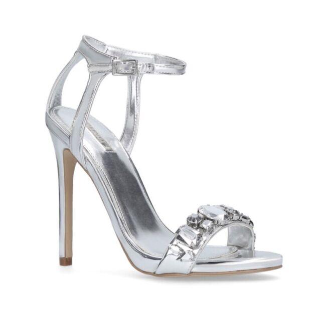 9764ed46b0c3 Carvela Kurt Geiger Gail in Silver Womens Heel Shoes UK 4 for sale ...