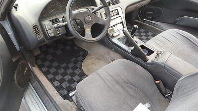 P2m Checkered Race Floor Mats For Nissan 240sx S13 1989 94 Silvia Dark Grey 2pcs Ebay