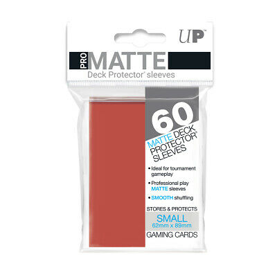 Ultimate Guard UX Matte SMALL Yellow Card Deck Protector Sleeves 62 x 89mm 60ct