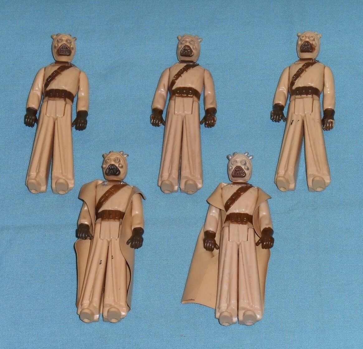 Vintage STAR WARS SANDPERSON LOT x5 action figures Sandpeople Tusken Raider
