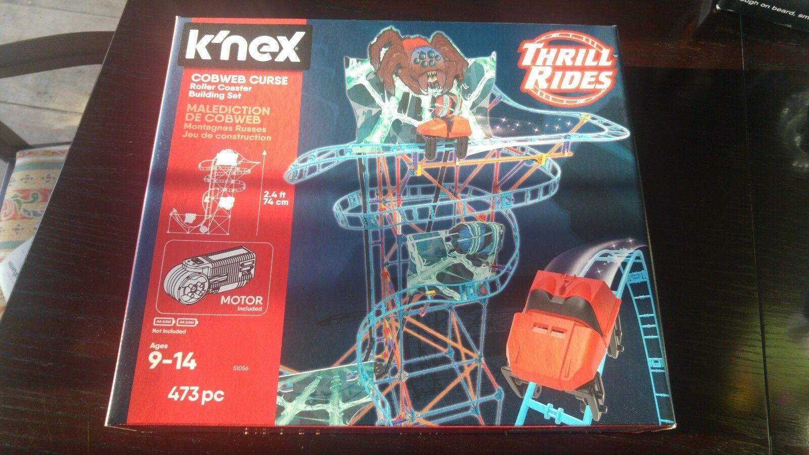 NEW K'NEX Thrill Rides Cobweb Curse Roller Coaster Building Playset 473pcs