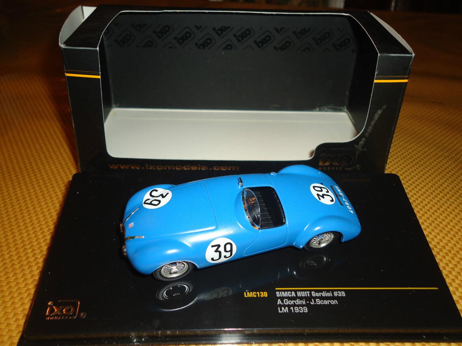 Ixo 1 43 Simca Huit Gordini  39 Le Mans 1939