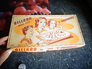 Boite-Ancien-Billard-l-039-Universel-Flipper-Plastique-1960-Pennytoys-Jouet-de-Bazar