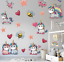 Lovely Unicorn Wall Stickers Poster Wallpaper Home Decoration Cute For Kids Room