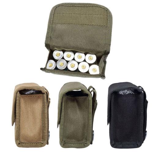 Hunting MOLLE 10 Round 12 Gauge Shells Shotgun Magazine Pouch Mag Ammo Belt Bag