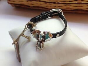 Image Is Loading Nwt Uno De 50 Black Leather Bracelet W