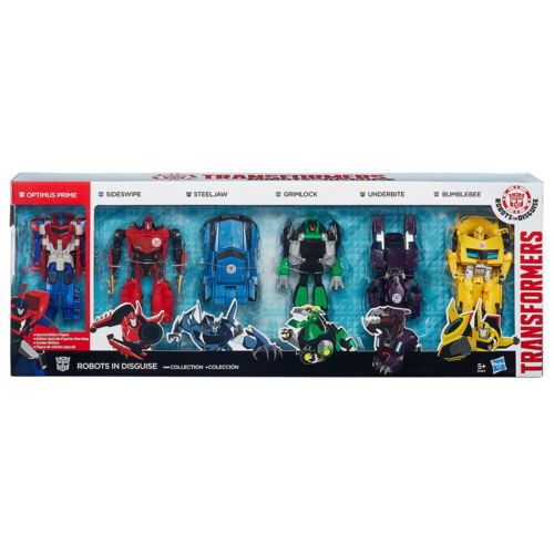 Transformers Robots in Disguise One-Step Changer 6 figure collection by Hasbro.