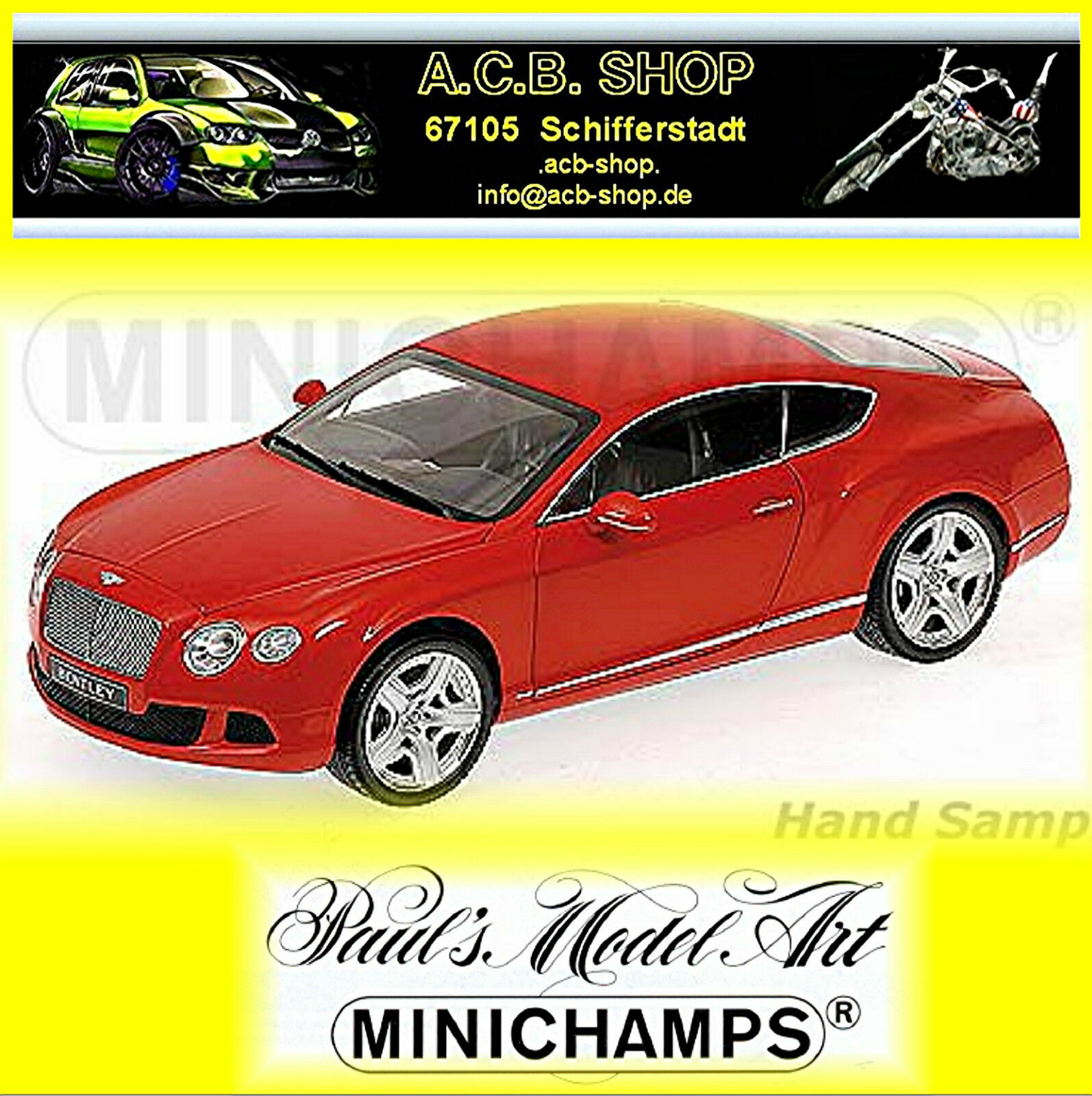 Bentley Continental GT 2011-13  rouge rouge 1 18 Minichamps Limit. Edit 750 pcs.  meilleur service